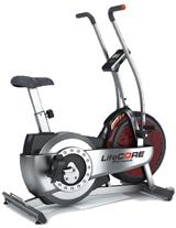fan exercise bike. lifecore airbike ls-xt fan bike exercise