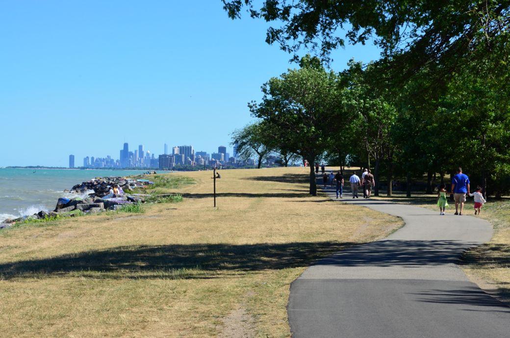Evanston Lakefront Bike Paths Photos, Northwestern