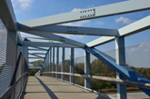 Bike Trail over Large Steel Bridge