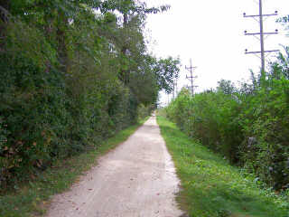 straight section on the Ill Prairie Path