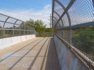 Fenced Bridge on Ill Prairie Path