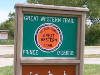 Great Western Trail at Price Road Crossing