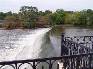 Dam along the Fox River Trail