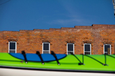 kayak and building in Wonewoc