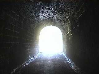 The tunnel outline as seen from inside