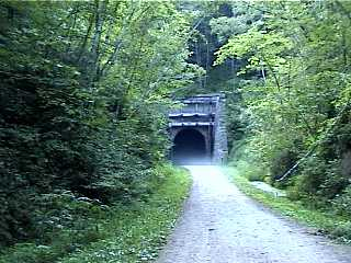 The wooded and misty tunnel #2 along the Elroy Sparta trail